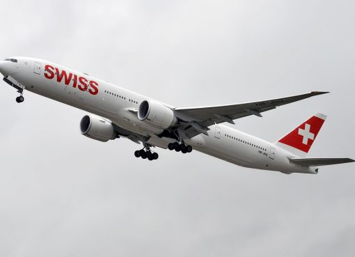 Swiss HB JNG Boeing 777 3DE ER at Zurich International Airport
