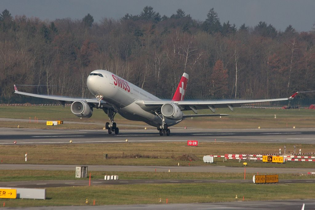 Swiss International Air Lines Airbus A330 343 HB JHN at Zurich International Airport
