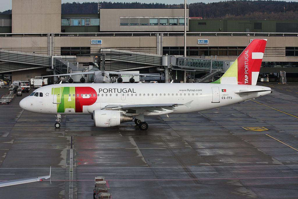 TAP Air Portugal Airbus A319 111 CS TTJ Eusébio at Zurich International Airport