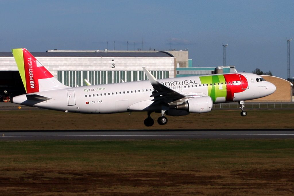 TAP Air Portugal Airbus A320 214WL CS TNR Luís de Freitas Branco at Oslo Airport