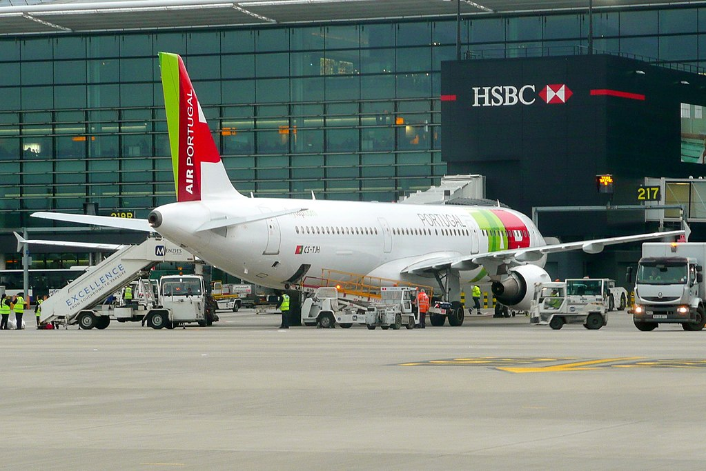 TAP Air Portugal Airbus A321 211 CS TJH Manoel de Oliveira at London Heathrow Airport