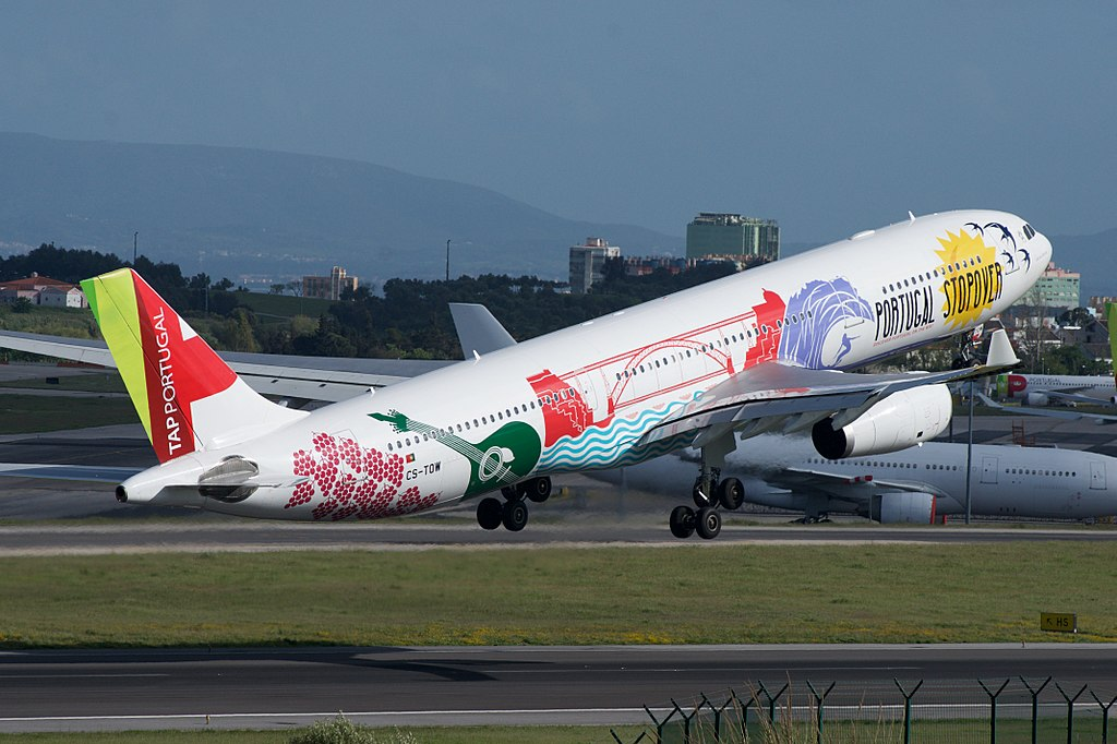 TAP Air Portugal Airbus A330 300 CS TOW João Vaz Corte Real Portugal Stopover Livery at Lisbon Portela Airport