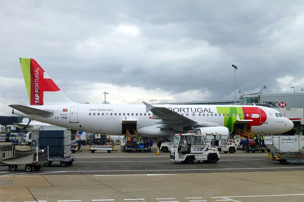 TAP Air Portugal CS TNW Airbus A320 214 José Saramago at London Heathrow Airport