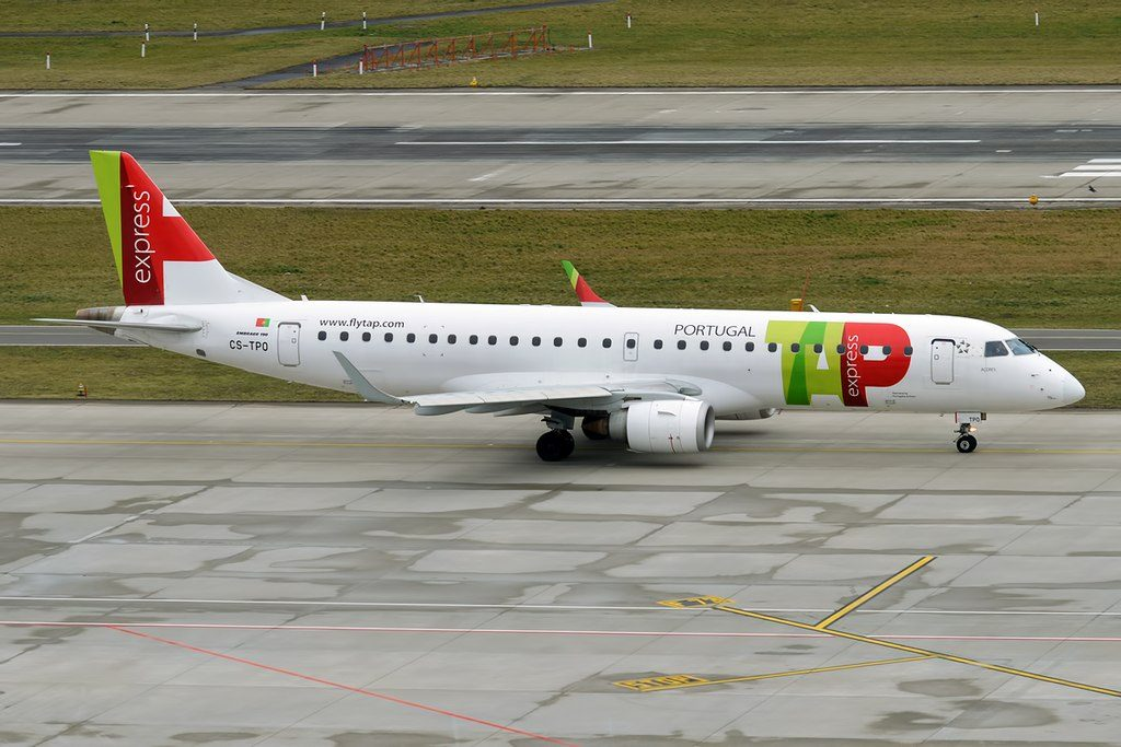TAP Express Portugália Açores CS TPO Embraer ERJ 190LR at Zurich International Airport