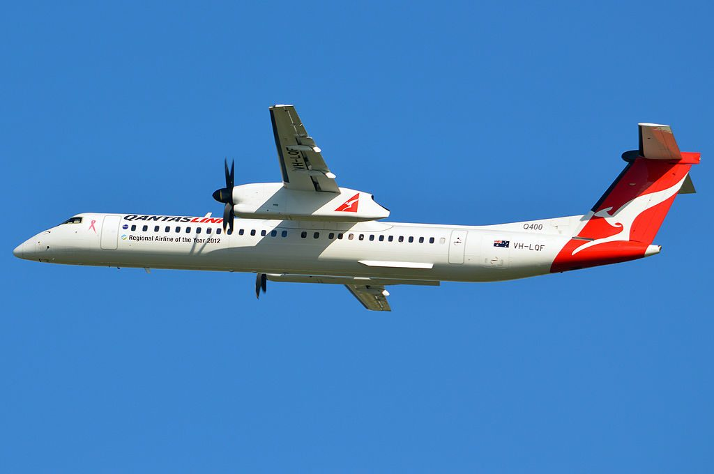 VH LQF Bombardier Dash 8 Q402 QantasLink Sunstate Airlines
