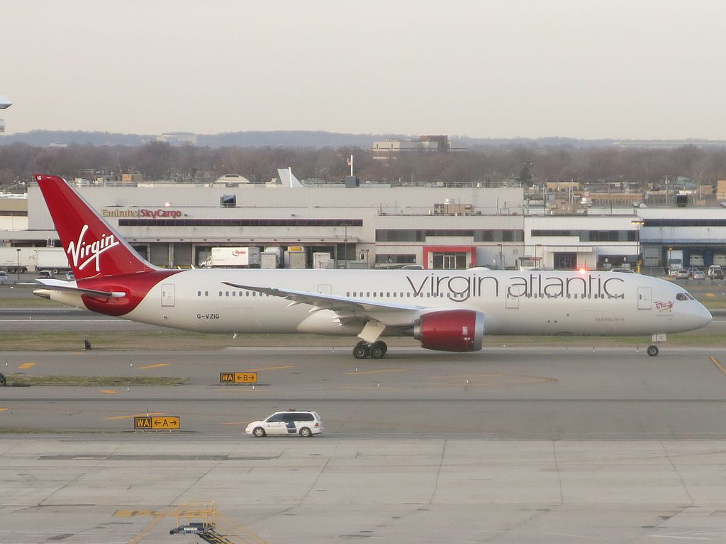 Virgin Atlantic Airways Boeing 787 9 Dreamliner G VZIG Dream Jeannie at John F. Kennedy International Airport