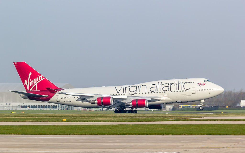 Virgin Atlantic Airways G VROM Boeing 747 443 Barbarella at Manchester Airport