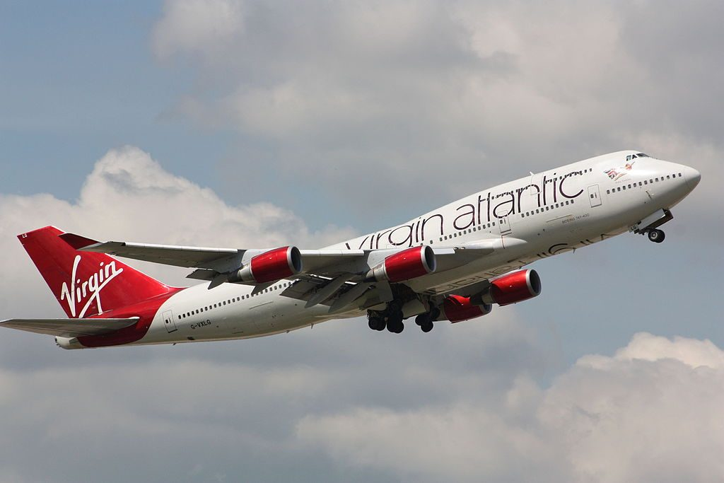 Virgin Atlantic Boeing 747 41R G VXLG Ruby Tuesday at London Gatwick Airport