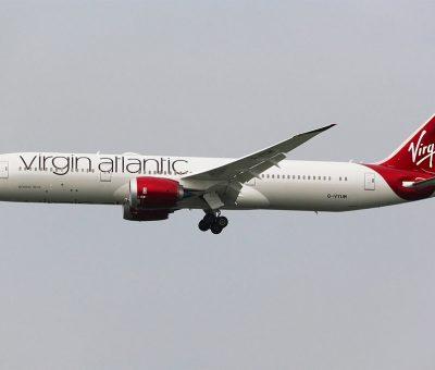 Virgin Atlantic Boeing 787 9 Dreamliner G VYUM Ruby Murray at Hong Kong International Airport