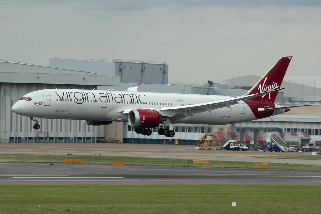 Virgin Atlantic G VOWS Boeing B787 9 Dreamliner Maid Marian at London Heathrow Airport