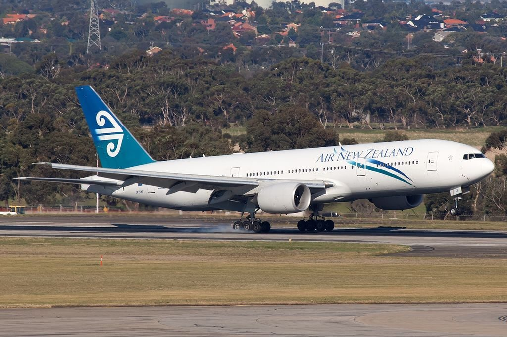ZK OKF Air New Zealand Boeing 777 200ER at Melbourne Airport