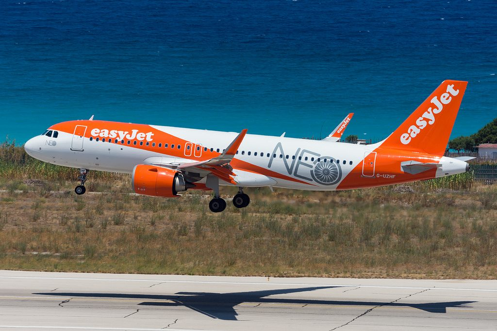 easyJet Airbus A320neo G UZHF at Rhodes International Airport