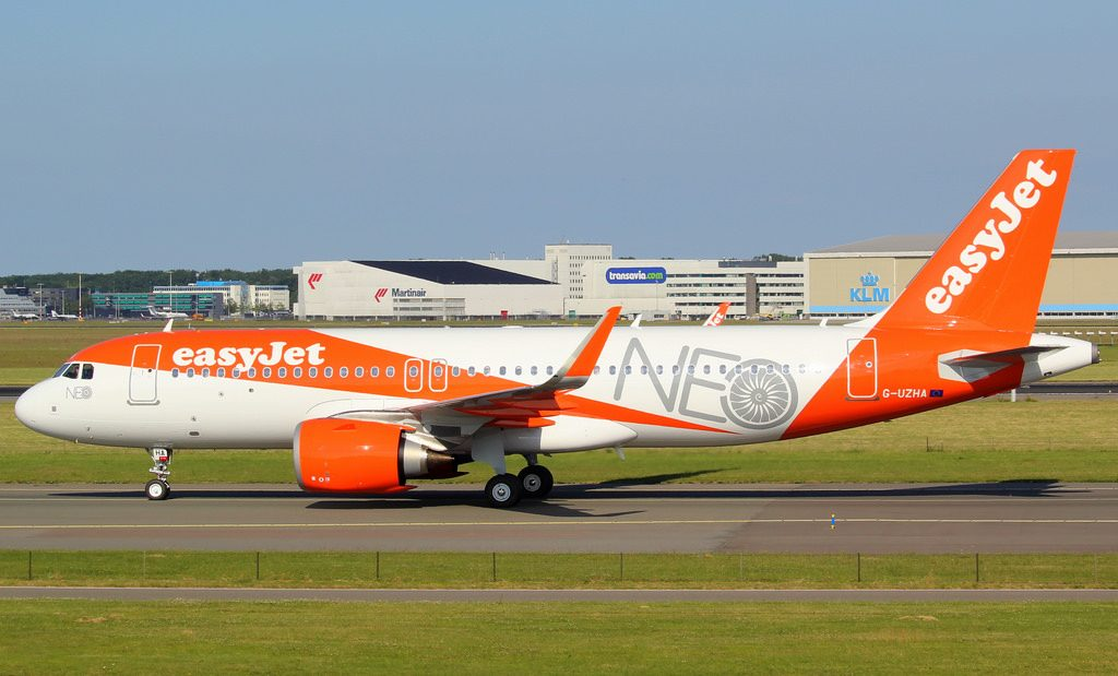 easyJet G UZHA Airbus A320 251N at Amsterdam Schiphol