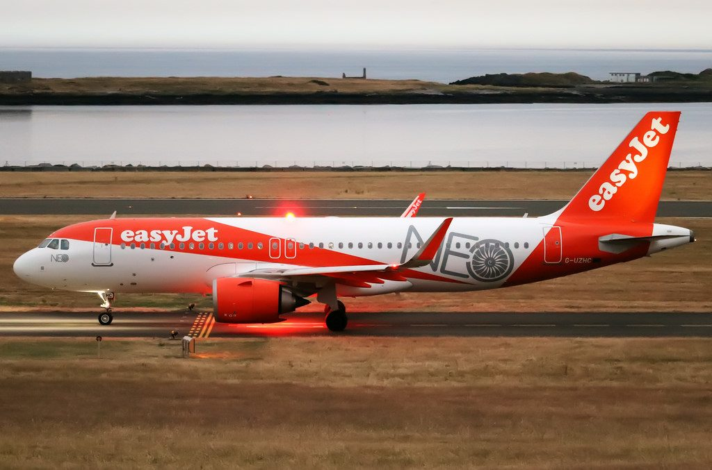 easyJet G UZHC Airbus A320 251N at Isle of Man Airport