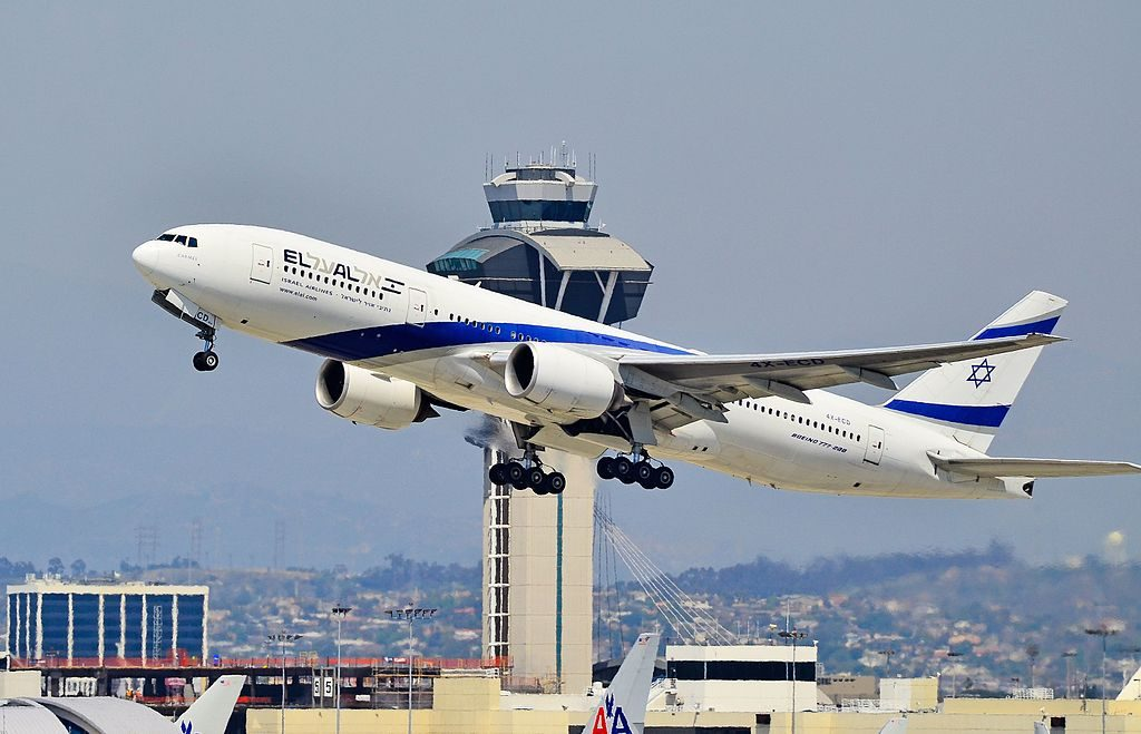 4X ECD EL AL Israel Airlines Boeing 777 258ER Ramat Gan at Los Angeles International Airport