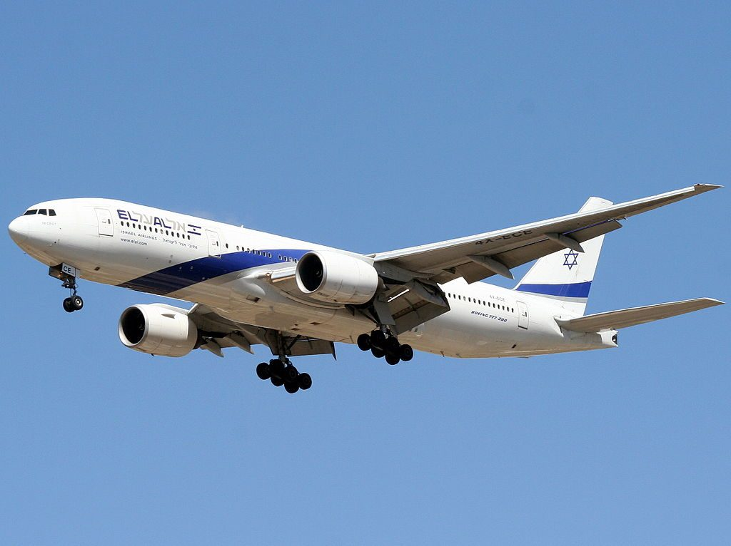 4X ECE Boeing 777 258ER Sderot of El Al at Ben Gurion International Airport