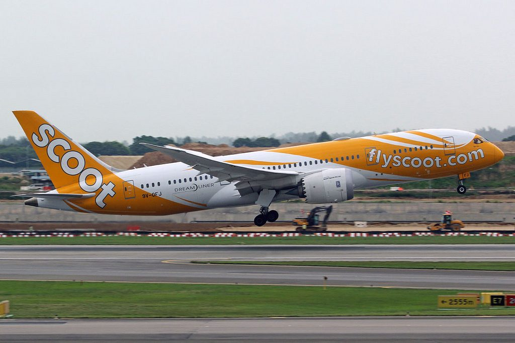 9V OFJ Boeing 787 8 Dreamliner Scoot Airlines Bo Jio at Singapore Changi Airport