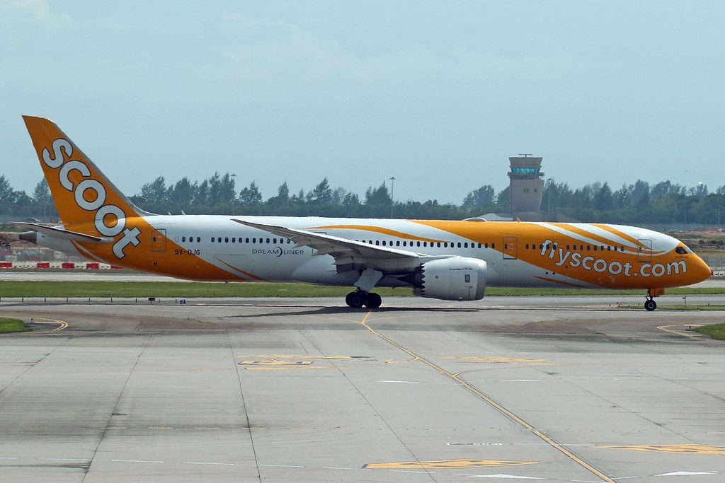 9V OJG Boeing 787 9 Dreamliner Wandermust Scoot Airlines at Singapore Changi