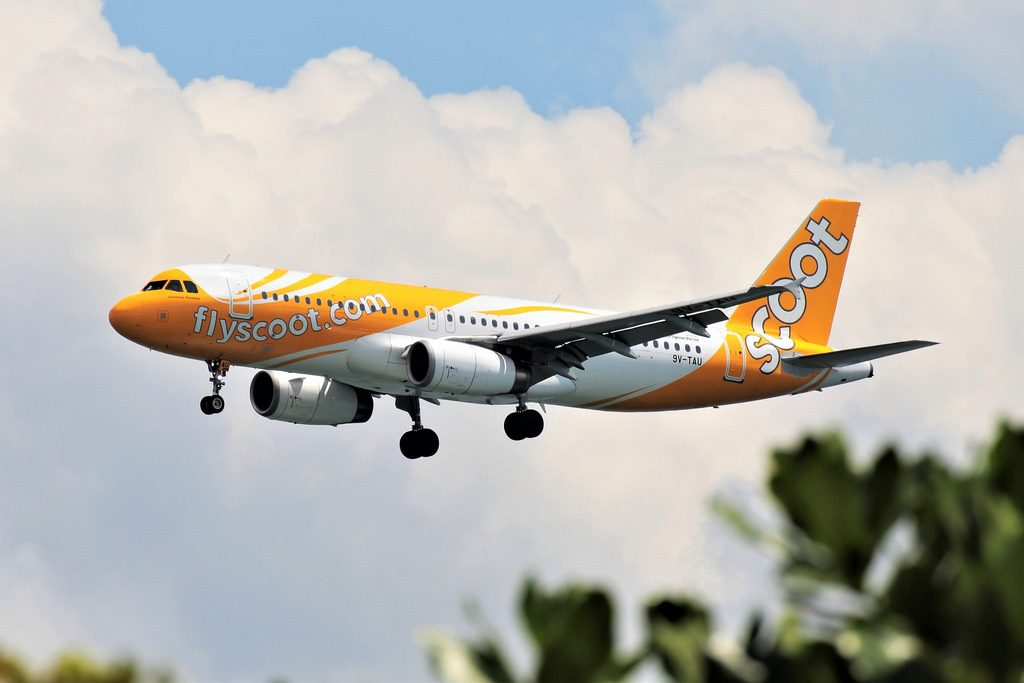 9V TAU Sunshine Paradise Airbus A320 232 Scoot Airlines