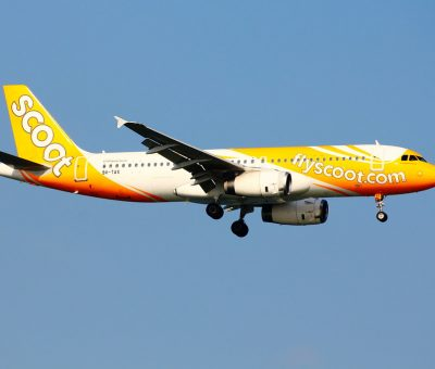 9V TAX Scoot Airbus A320 232 Pineapple Express at Changi Airport
