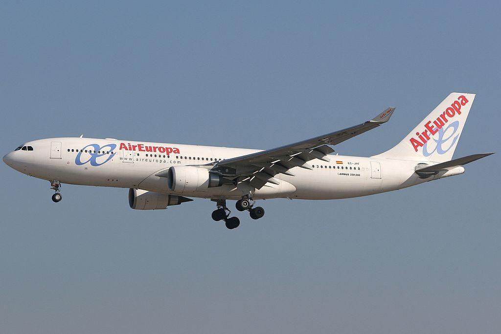 Air Europa Airbus A330 202 EC JPF at Madrid Barajas Airport
