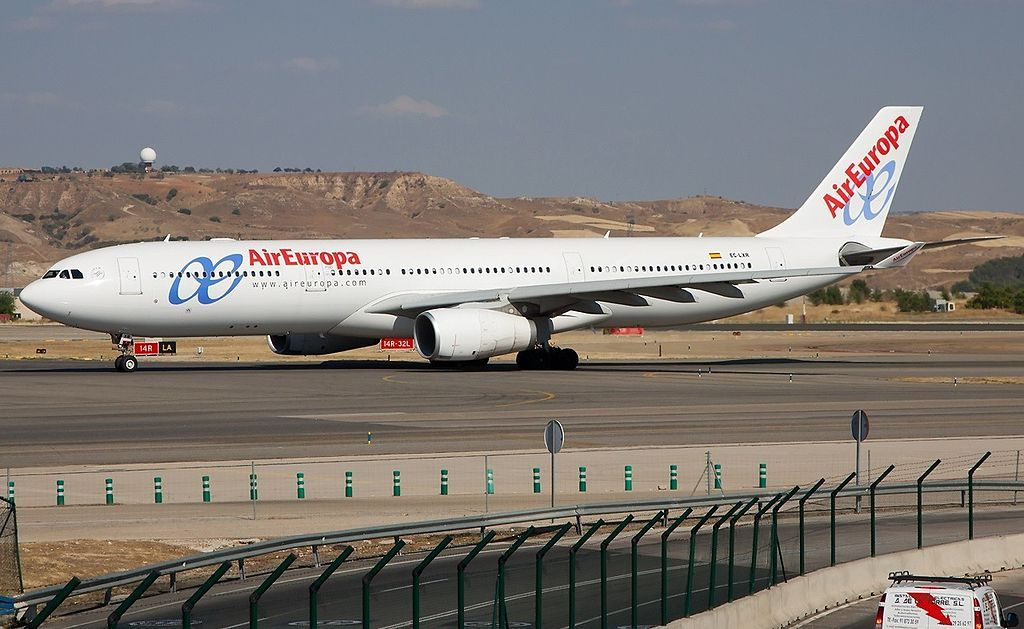 Air Europa Airbus A330 343 EC LXR at Madrid Barajas Airport