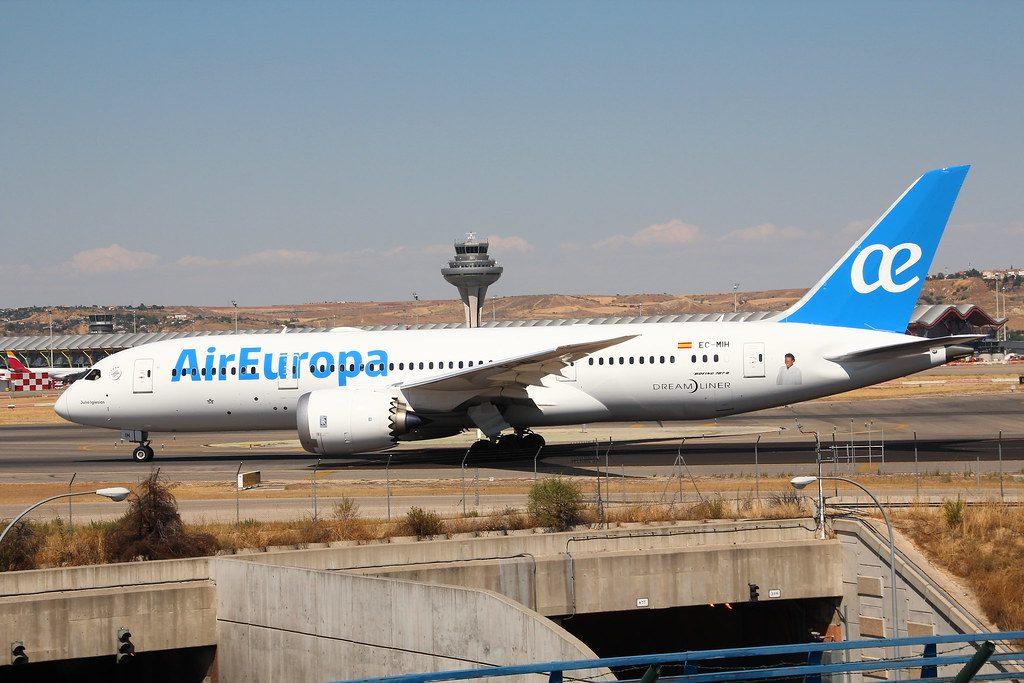 Air Europa Boeing 787 8 Dreamliner EC MIH at Madrid Barajas