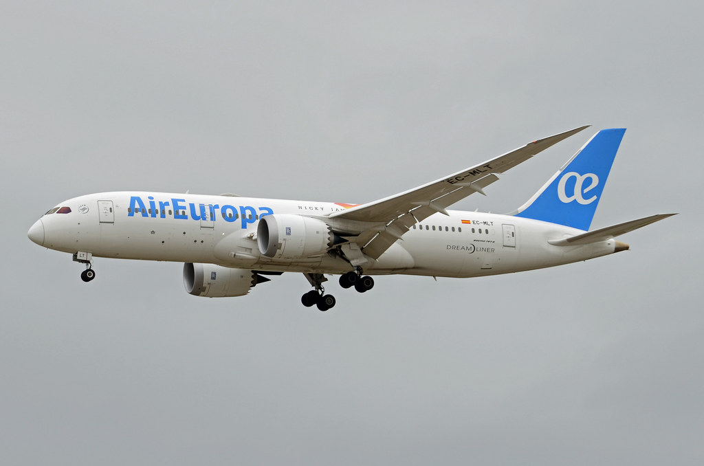 Air Europa Boeing 787 8 Dreamliner EC MLT at Madrid Barajas Airport