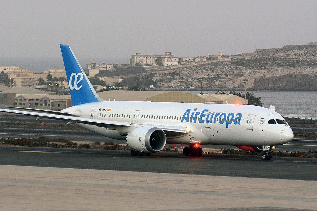Air Europa Boeing 787 8 Dreamliner EC MMX at Gran Canaria Airport
