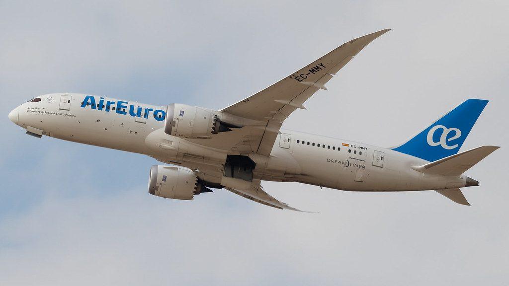 Air Europa Boeing 787 8 Dreamliner EC MMY at Ben Gurion Airport