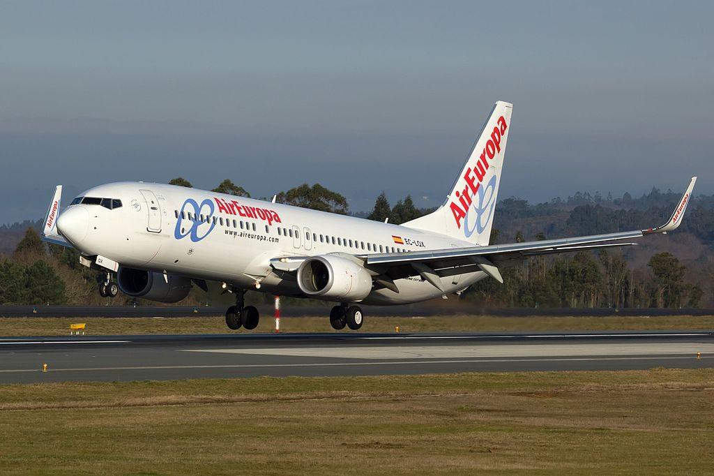Air Europa EC LQX Boeing 737 85PWL at Santiago de Compostela Airport