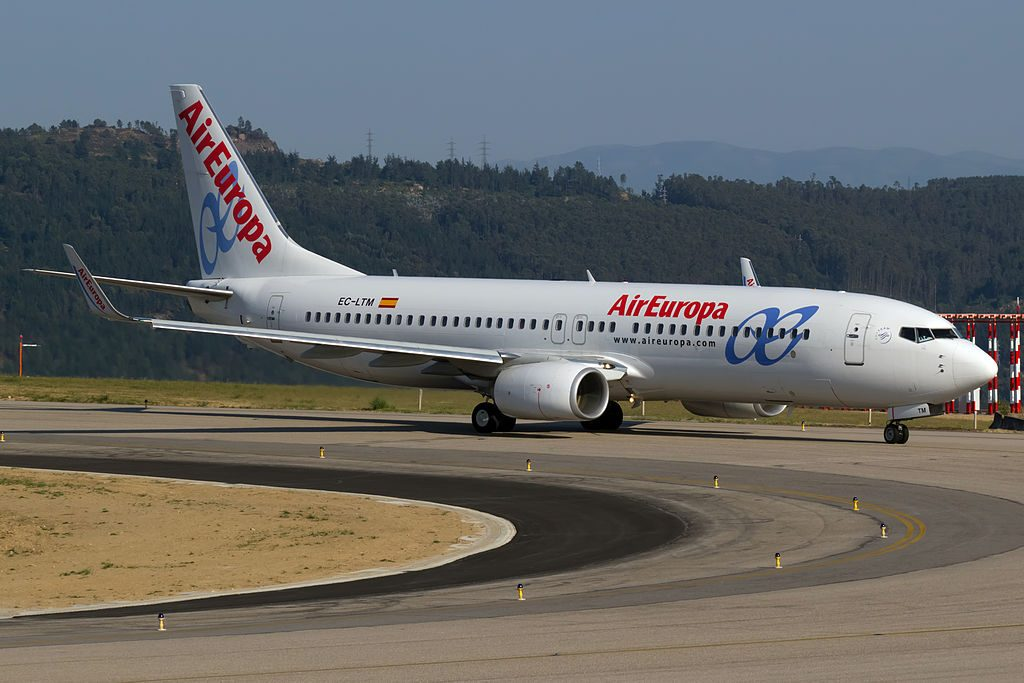 Air Europa EC LTM Boeing 737 85PWL at Vigo Airport