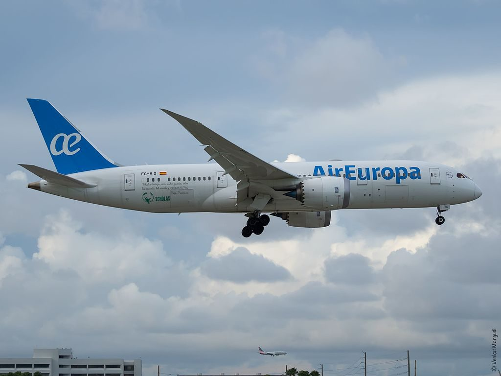 Air Europa EC MIG Boeing 787 8 Dreamliner at Miami International Airport
