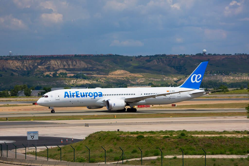 Air Europa EC MSZ Boeing 787 9 Dreamliner JJ Hidalgo at Madrid Barajas