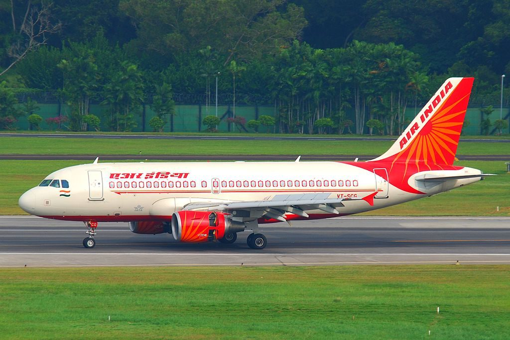 Air India Airbus A319 112 VT SCG at Singapore Changi Airport