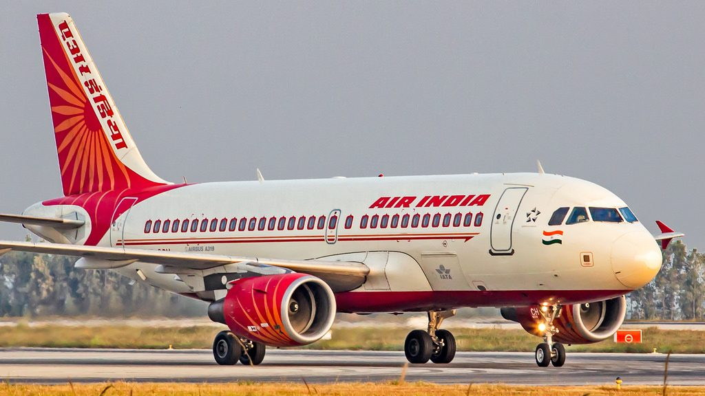 Air India Airbus A319 112 VT SCH at Bangalore
