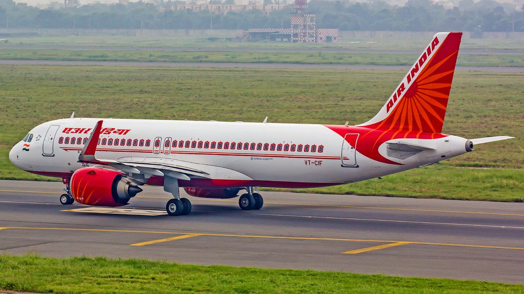 Air India Airbus A320NEO VT CIF at New Delhi