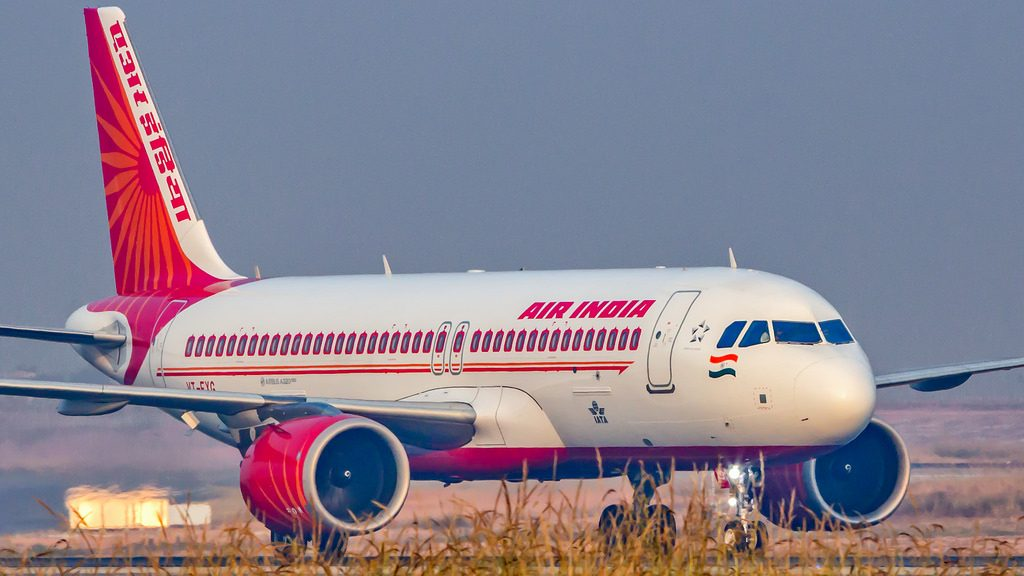 Air India Airbus A320NEO VT EXG at Bangalore