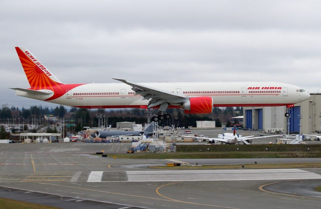 Air India Boeing 777 300ER VT ALW Madhya Pradesh at Paine Field