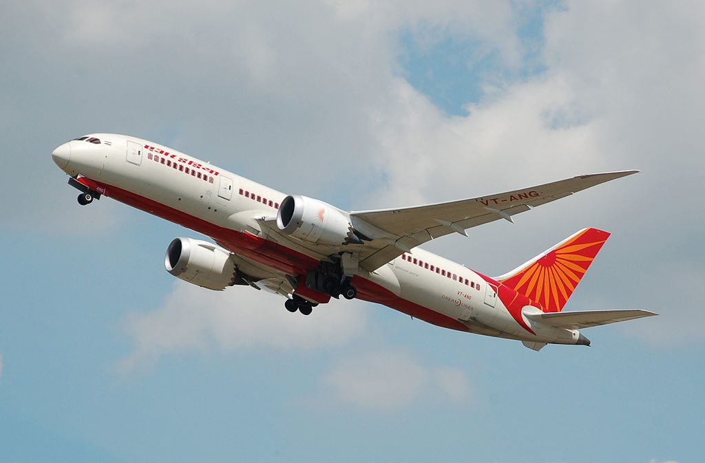 Air India Boeing 787 8 Dreamliner VT ANG departs London Heathrow Airport