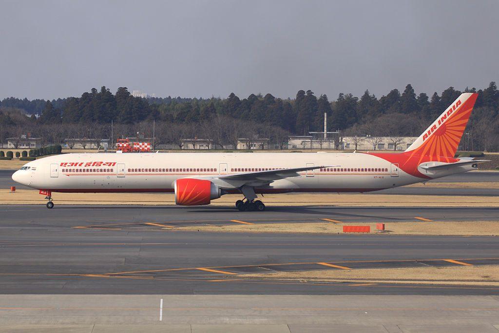Air India VT ALQ Boeing 777 337ER Chattisgarh at Narita International Airport