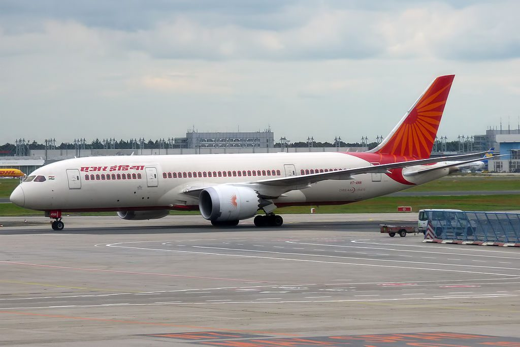 Air India VT ANN Boeing 787 8 Dreamliner at Frankfurt Airport