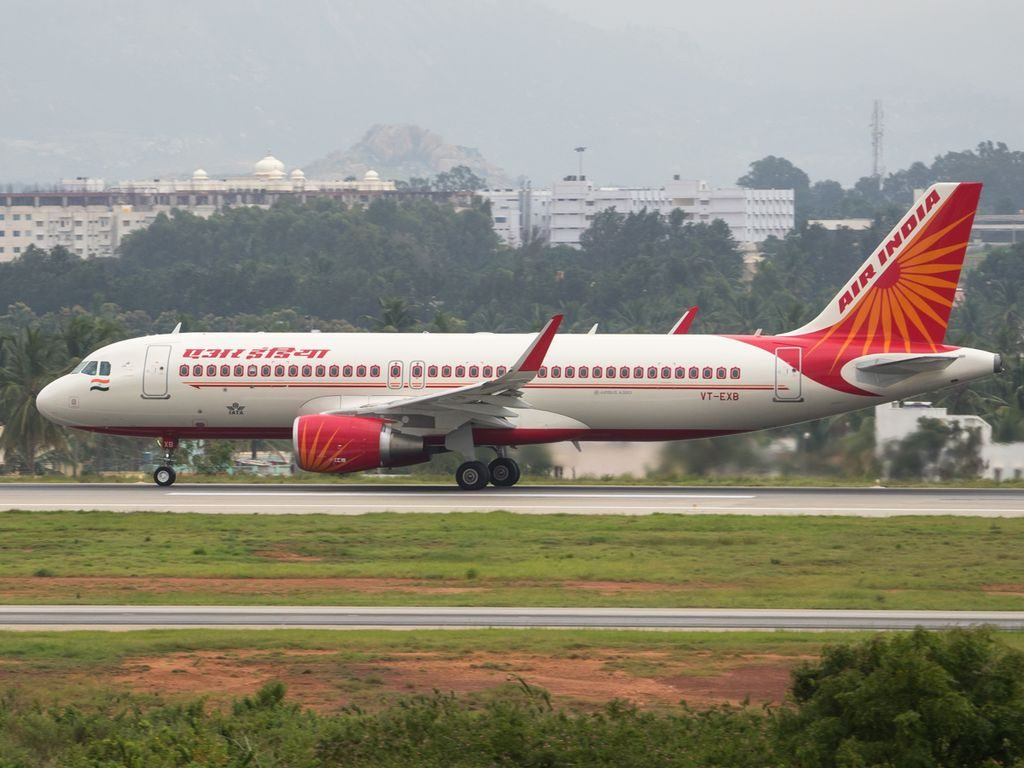 Air India VT EXB Airbus A320 214WL at Kempegowda International Airport