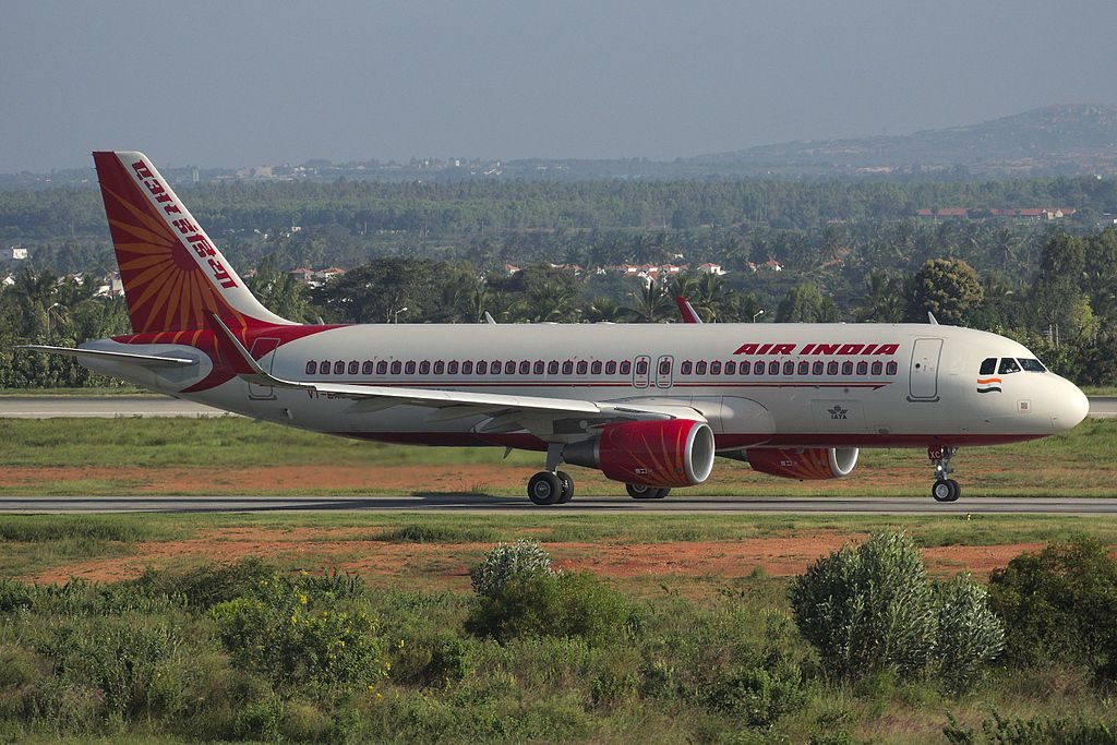 Air India VT EXC Airbus A320 214WL at Bangalore Airport