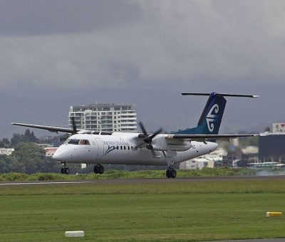 Air New Zealand Link Air Nelson ZK NED De Havilland Canada DHC 8 300 at Tauranga Airport
