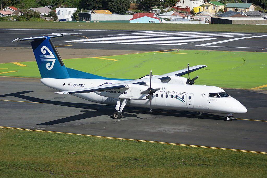 Air New Zealand Link Air Nelson ZK NEJ De Havilland Canada DHC 8 300 at Wellington International Airport
