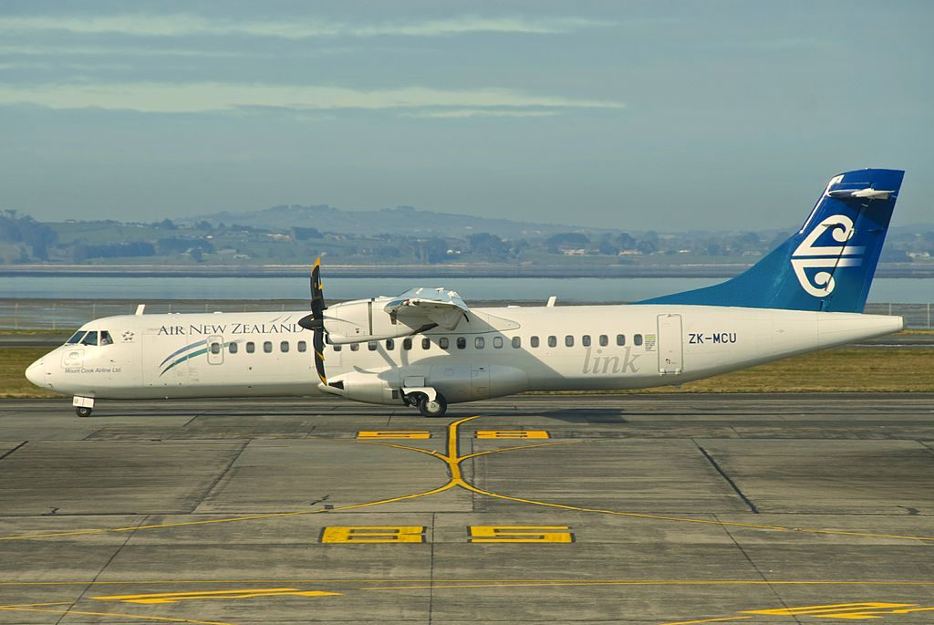 Air New Zealand Link Mount Cook Airline ATR 72 500 ZK MCU at Auckland Airport