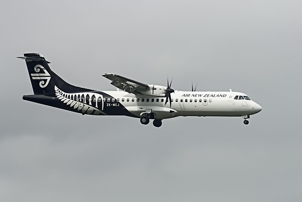 Air New Zealand Link Mount Cook Airline ATR72 500 ZK MCJ at Auckland Airport