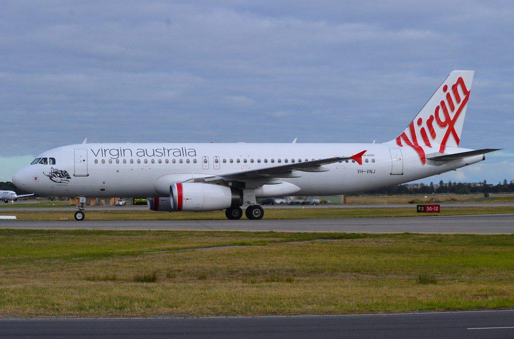 Airbus A320 232 Virgin Australia Regional VH VNJ Cossies Beach