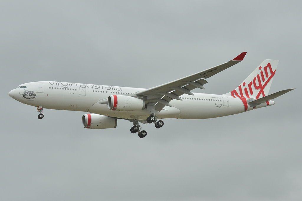 Airbus A330 200 Virgin Australia VOZ F WWYD VH XFH Duranbah beach at Toulouse Blagnac Airport